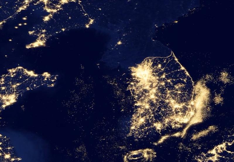 夜间模式地图设计素材