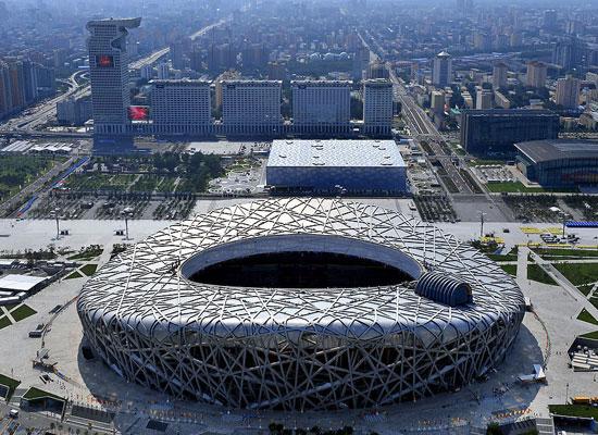 北京奥运主体育场鸟巢(资料图)