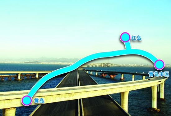 世界最长跨海大桥青岛胶州湾大桥明起全线通车